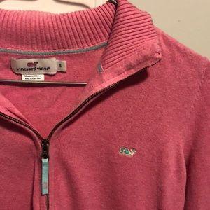 Vineyard Vines Women's Pink sweater quarter zip